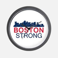 Boston Strong - Skyline Wall Clock
