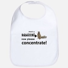 Concentrate on the squirrel Bib