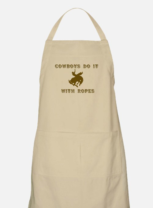 Cowboys Ride BBQ Apron
