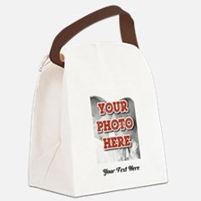 CUSTOM 8x10 Photo and Text Canvas Lunch Bag