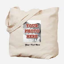 CUSTOM 8x10 Photo and Text Tote Bag