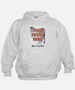 CUSTOM 8x10 Photo and Text Hoodie