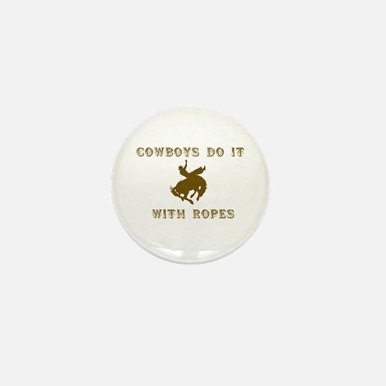 Cowboys Ride Mini Button