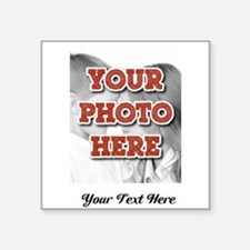 CUSTOM 8x10 Photo and Text Sticker
