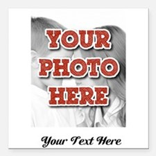 "CUSTOM 8x10 Photo and Text Square Car Magnet 3"" x"