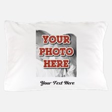 CUSTOM 8x10 Photo and Text Pillow Case