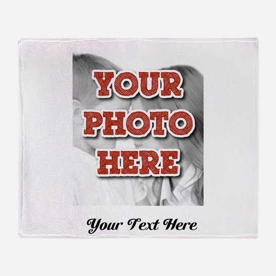 CUSTOM 8x10 Photo and Text Throw Blanket