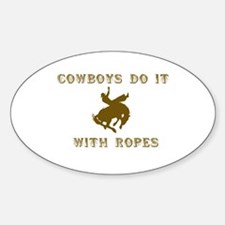 Cowboys Ride Oval Decal