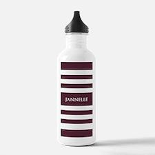 Dark Plum and White S Water Bottle
