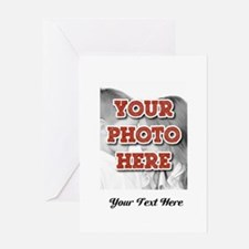 CUSTOM 8x10 Photo and Text Greeting Cards