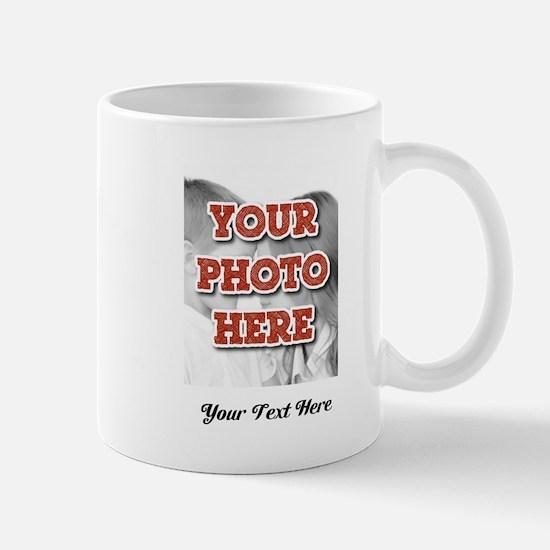 CUSTOM 8x10 Photo and Text Mugs