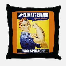 Rosie the Vegetarian Throw Pillow