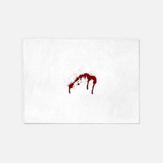 blood splatter 6 5'x7'Area Rug