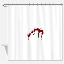 blood splatter 6 Shower Curtain