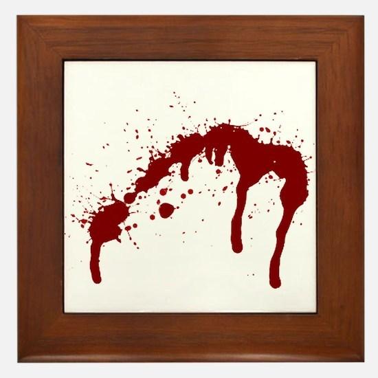 blood splatter 6 Framed Tile