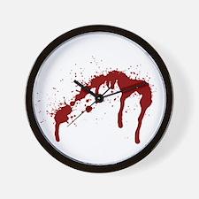 blood splatter 6 Wall Clock
