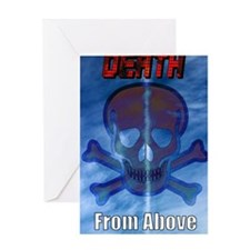 Unique Death from above Greeting Card