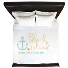 Block Island Life Stands Still King Duvet