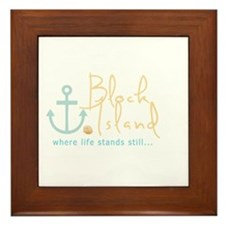 Block Island Life Stands Still Framed Tile