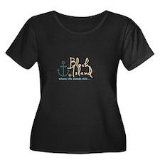Block Island Life Stands Still Plus Size T-Shirt