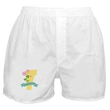 Vermont State Outline Red Clover Flower Boxer Shor