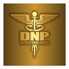 "DNP gold Square Car Magnet 3"" x 3"""