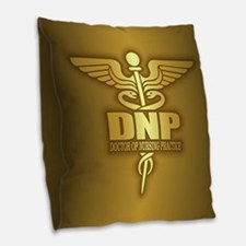 Dnp Gold Burlap Throw Pillow