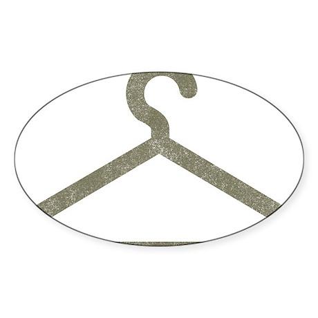 Vintage Hanger Oval Sticker