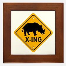 Rhino X-ing Framed Tile