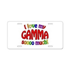 I love my GAMMA soooo much! Aluminum License Plate