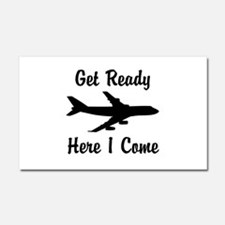 Here I Come Car Magnet 20 x 12
