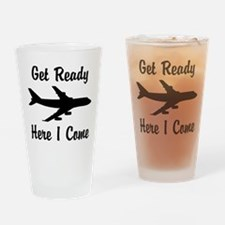 Here I Come Drinking Glass