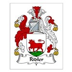 Ridler Family Crest Small Poster