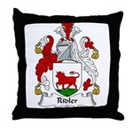 Ridler Family Crest Throw Pillow