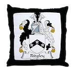 Ridgley Family Crest Throw Pillow
