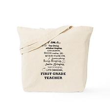Cute First grade Tote Bag