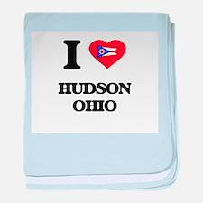 I love Hudson Ohio baby blanket