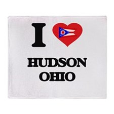 I love Hudson Ohio Throw Blanket