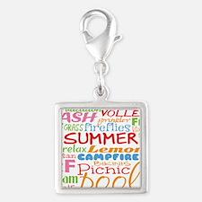 Summer Word Art Charms