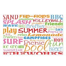 Summer Word Art Postcards (Package of 8)