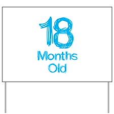 18 Months Old Baby Milestones Yard Sign