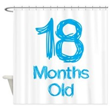 18 Months Old Baby Milestones Shower Curtain