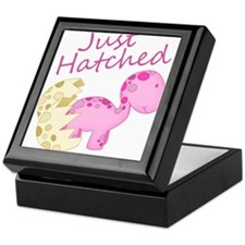 Just Hatched Pink Baby Dinosaur Keepsake Box