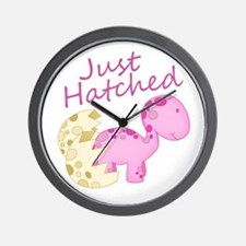 Just Hatched Pink Baby Dinosaur Wall Clock