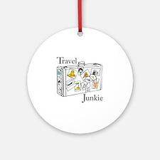 Travel Junkie Ornament (Round)