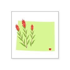 Wyoming State Outline Indian Paintbrush Flower Sti