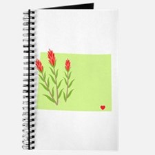 Wyoming State Outline Indian Paintbrush Flower Jou