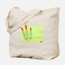 Wyoming State Outline Indian Paintbrush Flower Tot
