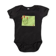 Wyoming State Outline Indian Paintbrush Flower Bab