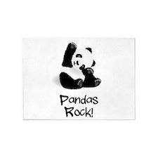 Panda's Rock! 5'x7'Area Rug